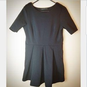 Zara Mini Black Skater Dress